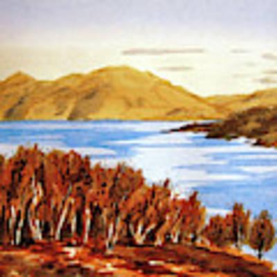 Scottish Loch Poster by Valerie Anne Kelly