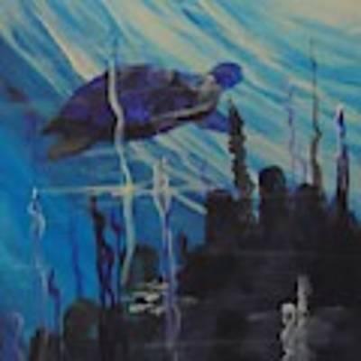 Sea Turtle Poster by Saundra Johnson