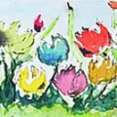 Springtime Tulips Poster by Wendy Ray