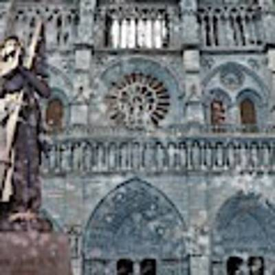St Joan Of Arc Watch Over Notre Dame Poster by Joan Stratton