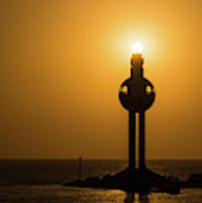 Sunset In Port Jeddah, Saudi Arabia Poster by William Dickman