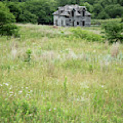 The Abandoned Farm In Summer Poster by Mary Lee Dereske