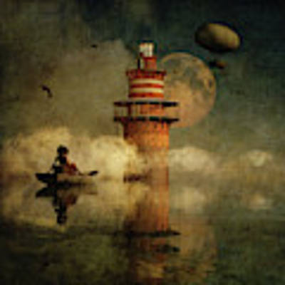 The Conducting Lighthouse Poster by Jan Keteleer