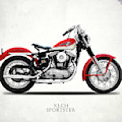 The Vintage Sportster Motorcycle Poster by Mark Rogan