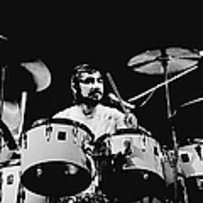 The Who Drummer Performing Poster by Larry Hulst