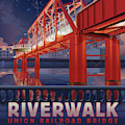 Union Railroad Bridge - Riverwalk Poster by Clint Hansen