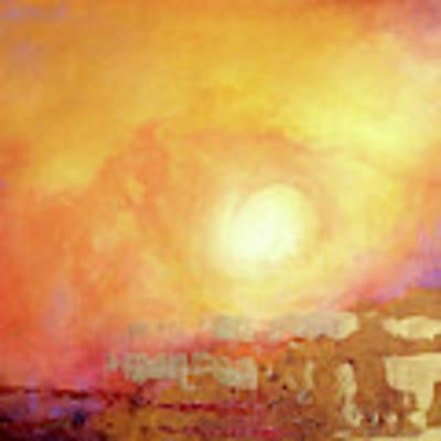 Vortex Of Light Poster by Valerie Anne Kelly