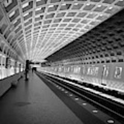 Waiting At Pentagon City Station Poster by Lora J Wilson