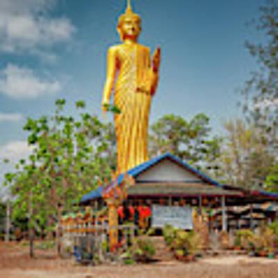 Wat Kham Chanot Golden Buddha Poster by Adrian Evans
