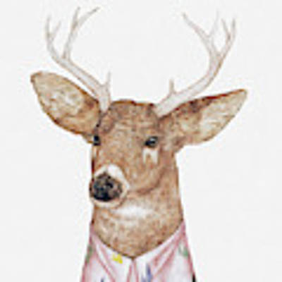 White-tailed Deer Poster by Animal Crew