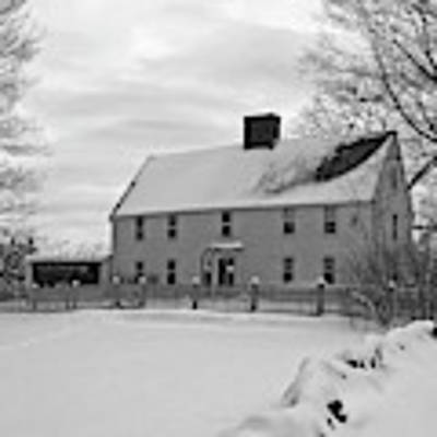Winter At Noyes House Poster by Wayne Marshall Chase