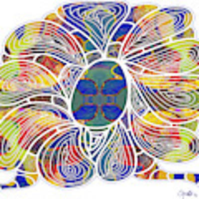 Zen Flower Abstract Meditation Digital Mixed Media Art By Omaste Witkowski Poster by Omaste Witkowski