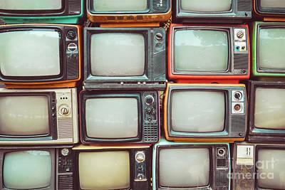 Vintage Tv Sets Art Fine Art America