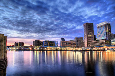 Baltimore City Inner Harbor Patapasco River Chesapeake Bay Skyline Sky Prints