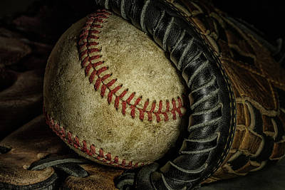 Baseball Gloves Art Prints