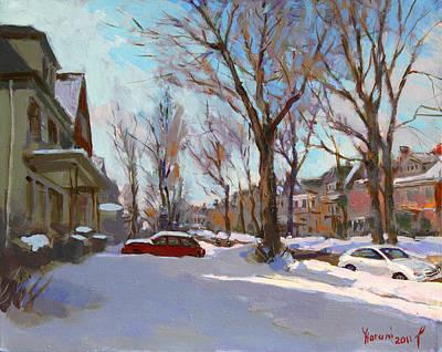 Snowscape Paintings Original Artwork