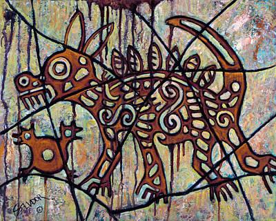 Mayan Dog Paintings