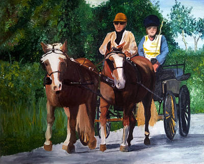 Horse And Cart Original Artwork