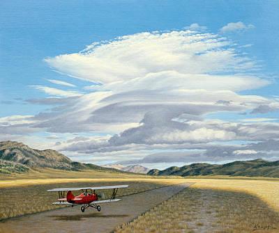 Biplane Original Artwork