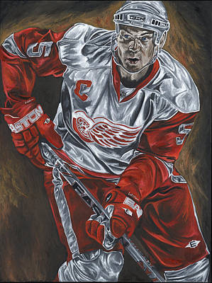Nicklas Lidstrom Detroit Redwings Hockey Captain David Courson Sports Paintings