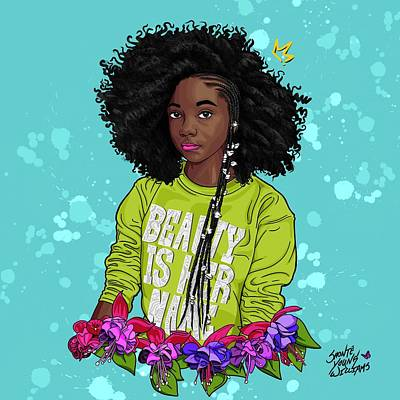 Digital Art - Beauty is Her Name by Shonte Young Williams