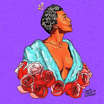 Digital Art - Joyce Bryants Roses by Shonte Young Williams