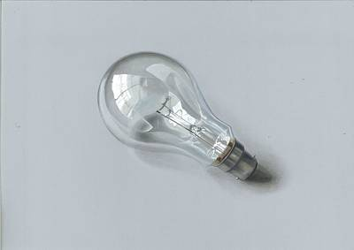 Painting - Realistic Drawing Of Bulb by Sushant S Rane
