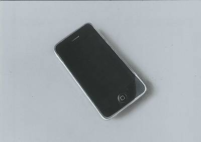 Painting - Realistic Drawing Of Iphone 3gs by Sushant S Rane