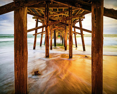 Photograph - Water Under The Bridge in Color by Nazeem Sheik