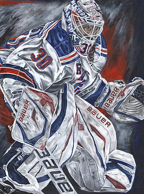 New York Rangers Henrik Lundqvist Hockey Goalie Sports Nhl Paintings