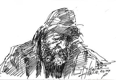 Homeless Man Drawings