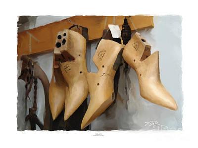 Wooden Shoe Digital Art
