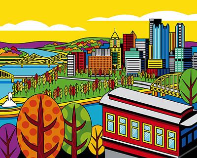 Duquesne Incline Digital Art Prints
