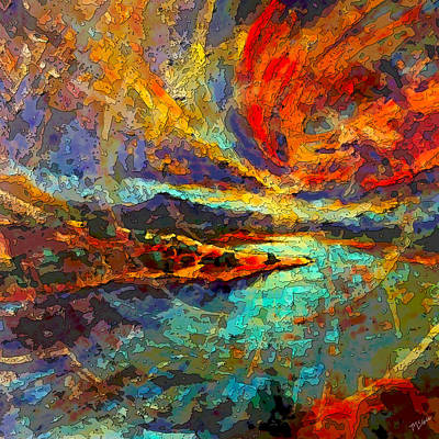 Painting - Pedernal Sunset by Tom McGee