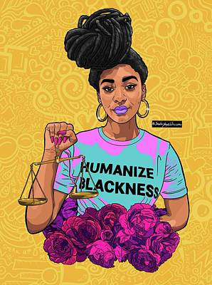 Digital Art - Justice Yellow  by Shonte Young Williams
