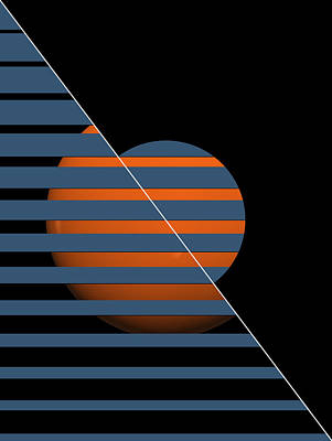 Digital Art - Sphere Behind by Mark Smith