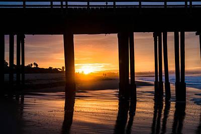 Photograph - Pier Sunrise by Jeff Landis