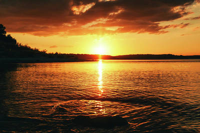 Photograph - Sunset On The Lake by Alicia R Paparo
