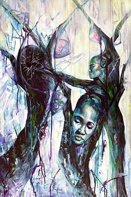 Painting - Perception by Shuanteya Sherman