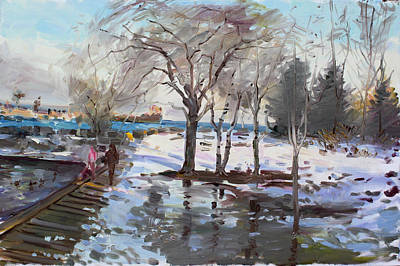Snow Scape Paintings
