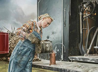 Steam Tractor Art