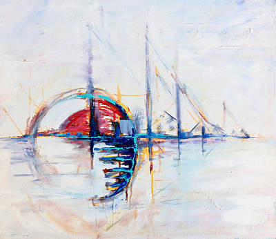 Painting - Rise by Shuanteya Sherman
