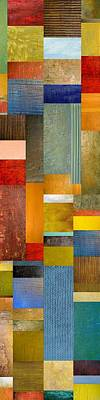 Abstract Rectangle Patterns - Wall Art