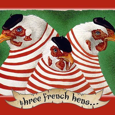 Designs Similar to Three French Hens...