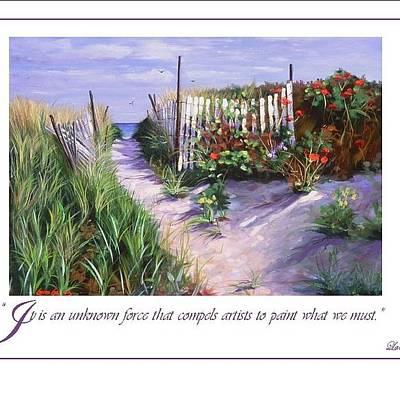 Seashore Quote Art