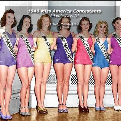 Designs Similar to 1940 Miss America Contestants