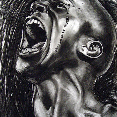 Beautiful Man Screaming Drawings Fine Art America