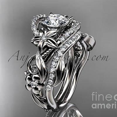 Leaf And Vine Engagement Ring Art