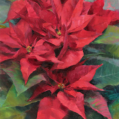 Christmas Flowers Paintings