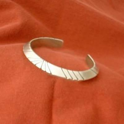 This Heavy Gauge Triangular Silver Bracelet Is Offered In Three Sizes Art